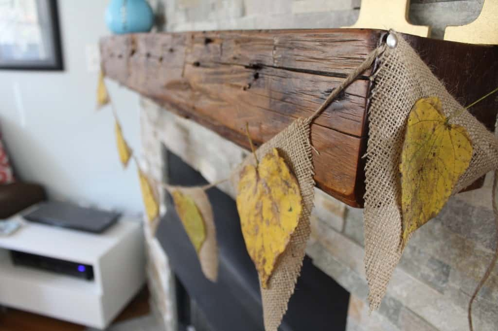 DIY Burlap & Leaf Garland