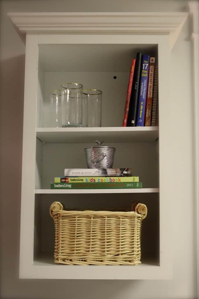 Simple Open Shelf Styling: Day 15 ~ www.simplestylings.com