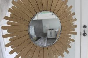 DIY Christmas Card Holder aka Sunburst Mirror: Day 25 ~ www.simplestylings.com