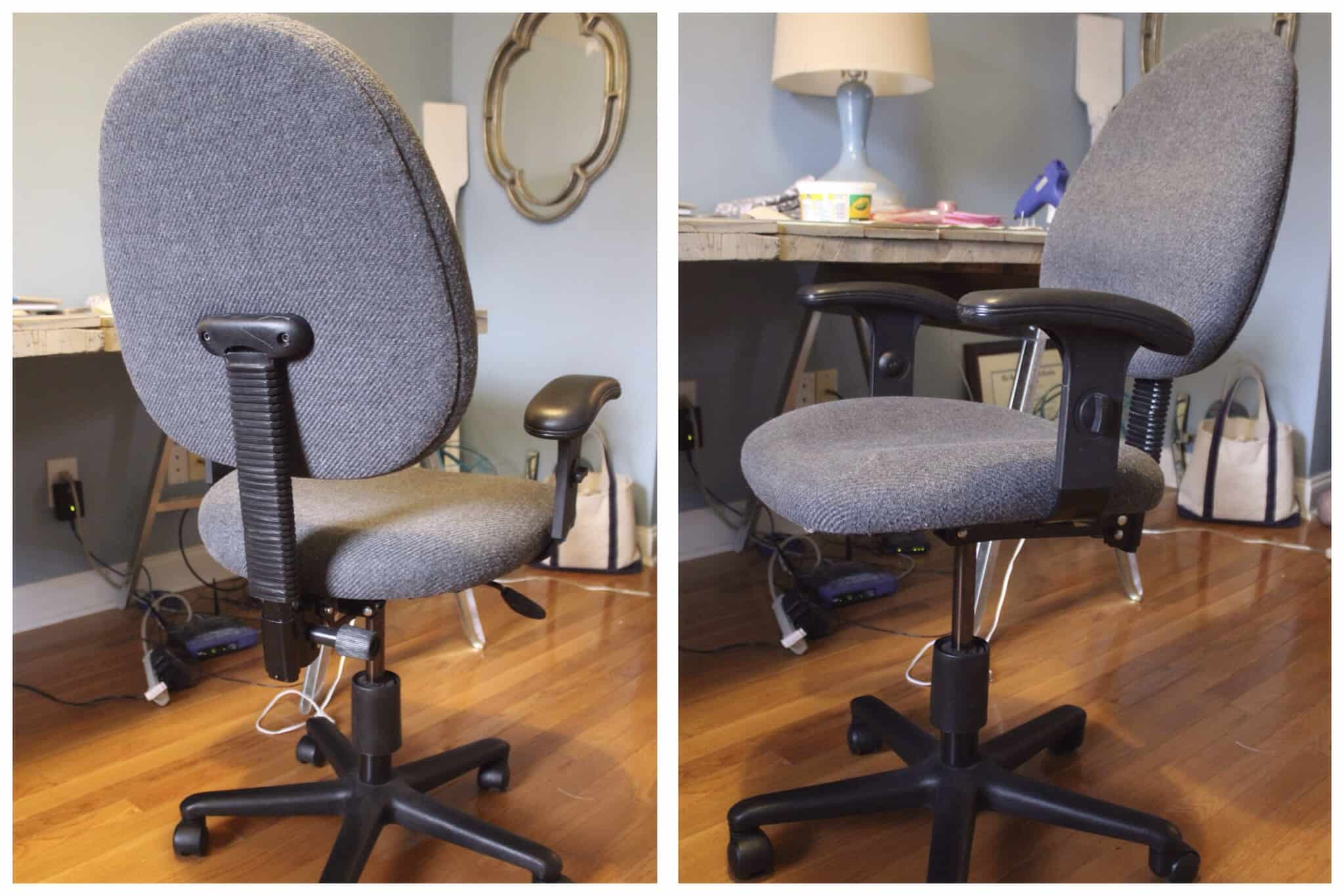 DIY Reupholstered fice Chair Simple Stylings