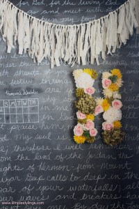 diy faux flower letter