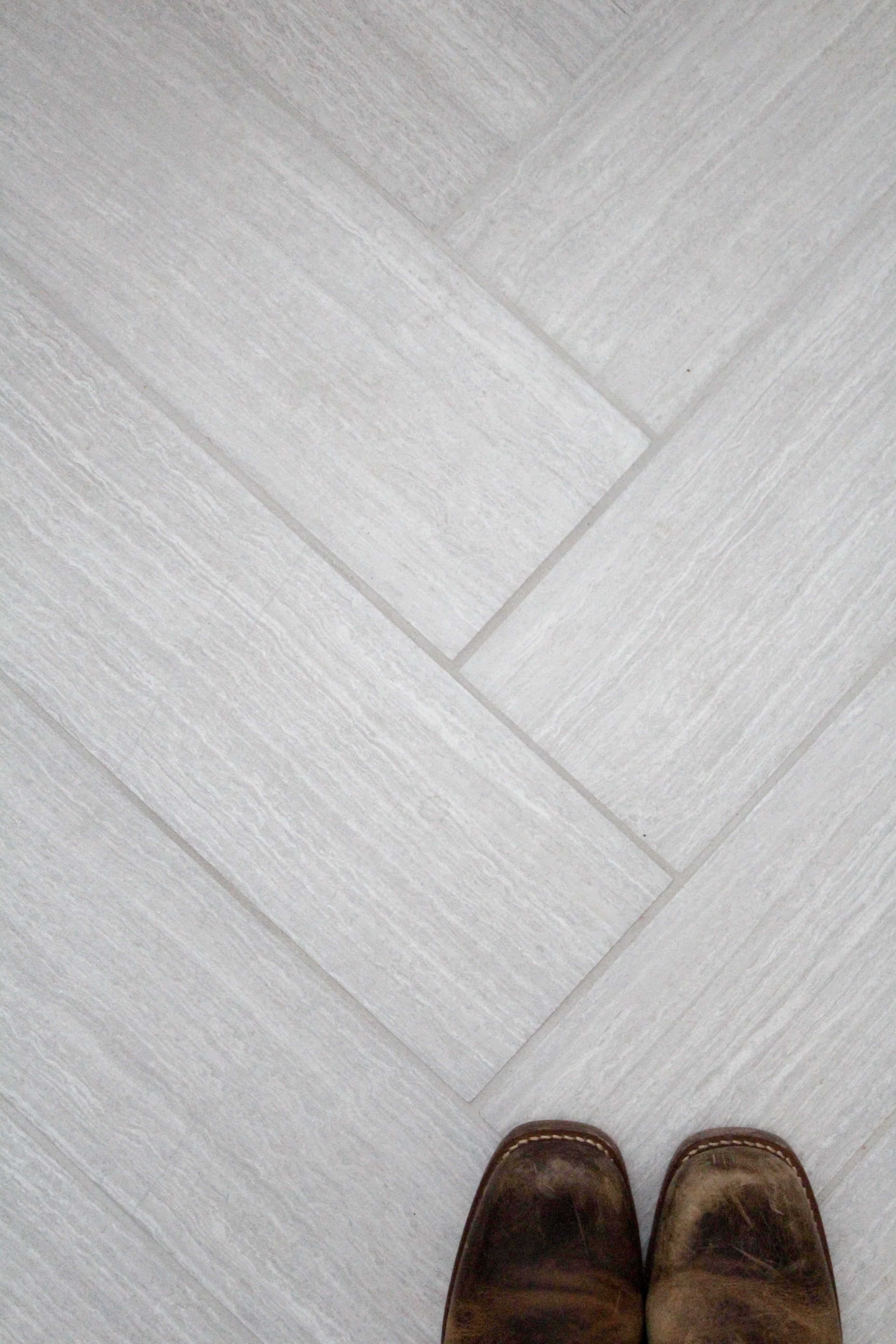 Kitchen renovation floor tile its the perfect neutral gray and i like the 6 x 24 size and just like that we have a winner dailygadgetfo Images