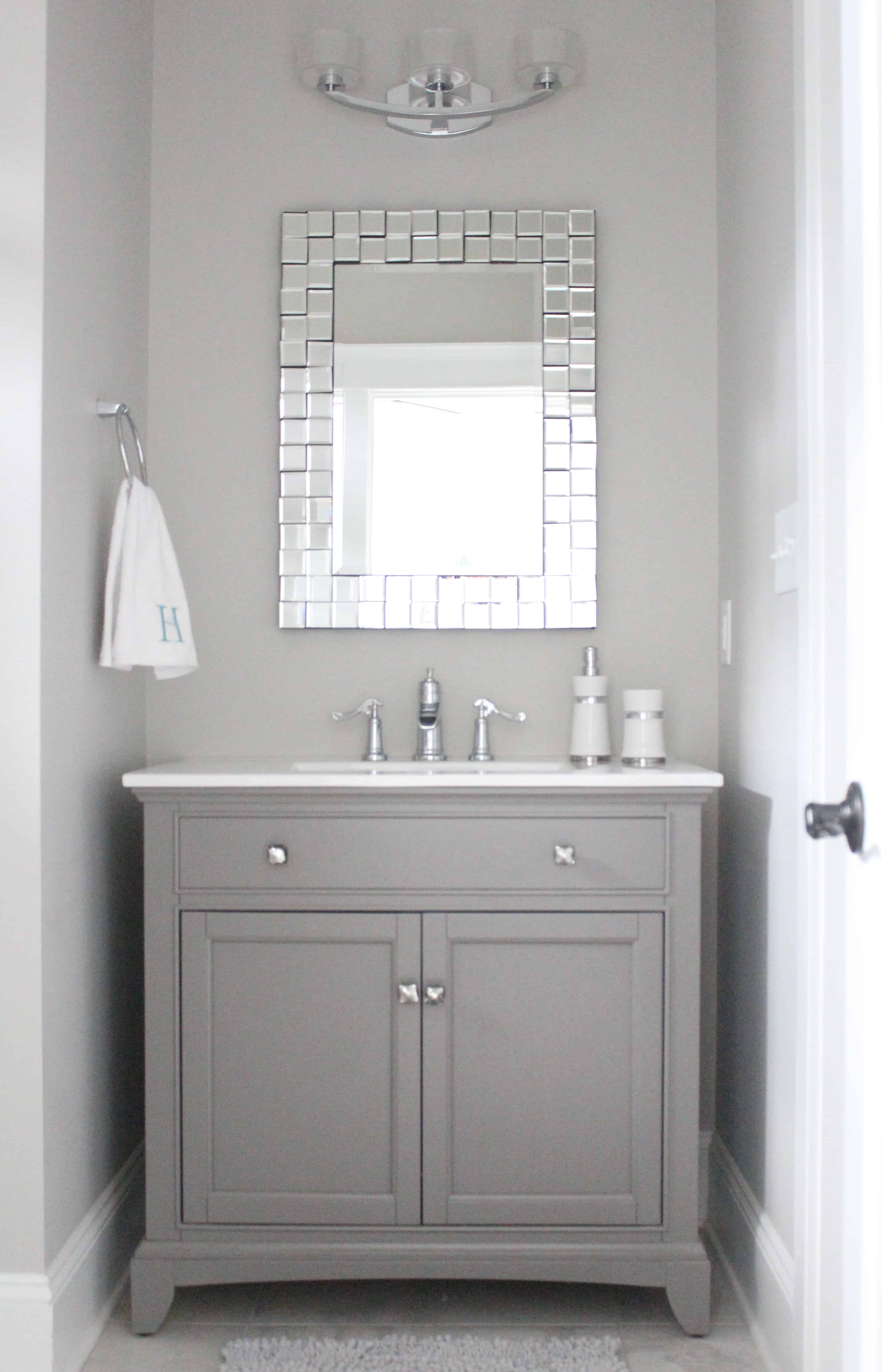 Home of the month lake house sources simple stylings for Bathroom vanity mirrors
