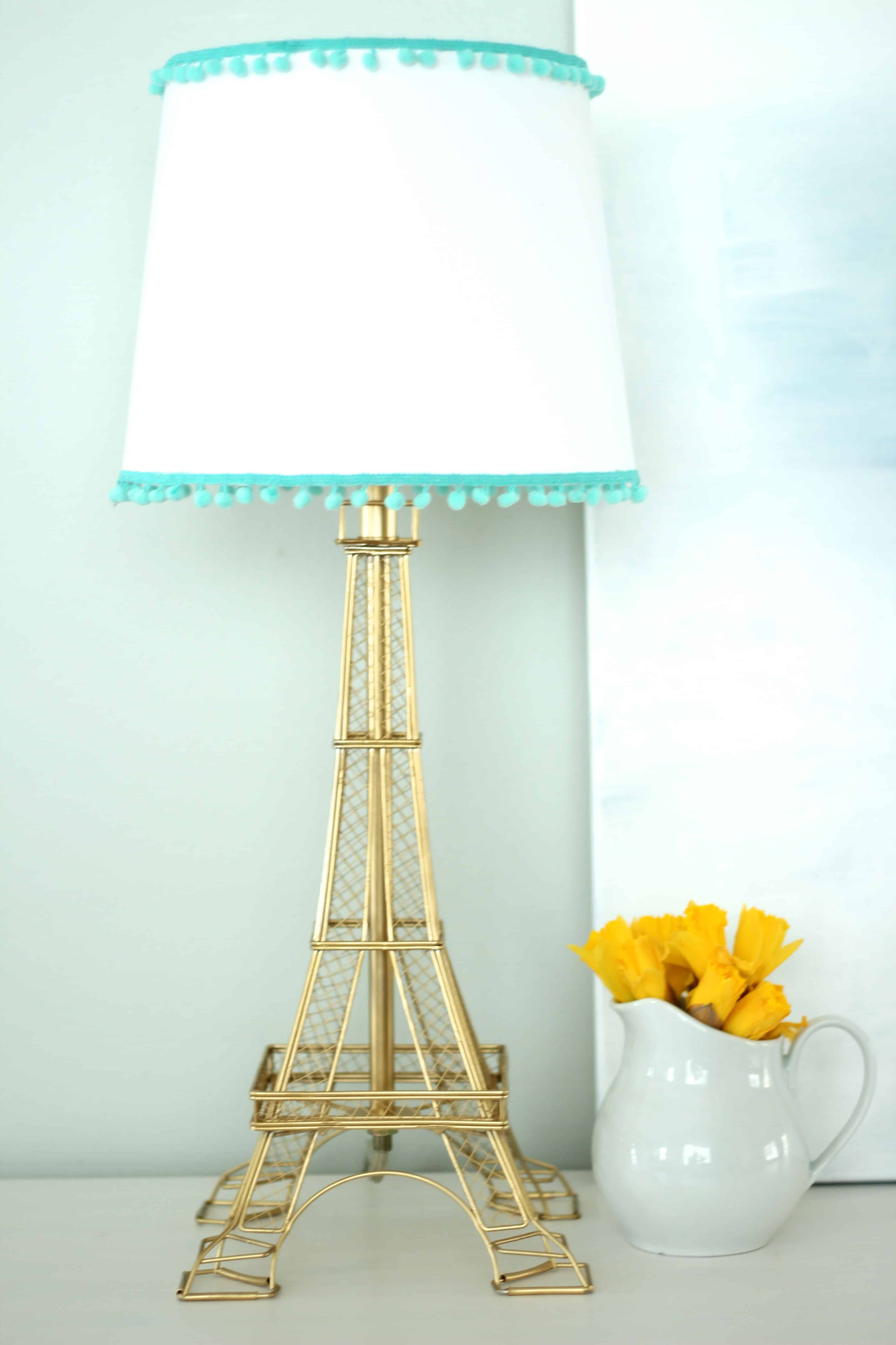 Springtime In Paris - A DIY Eiffel Tower Lamp Makeover - Simple ...
