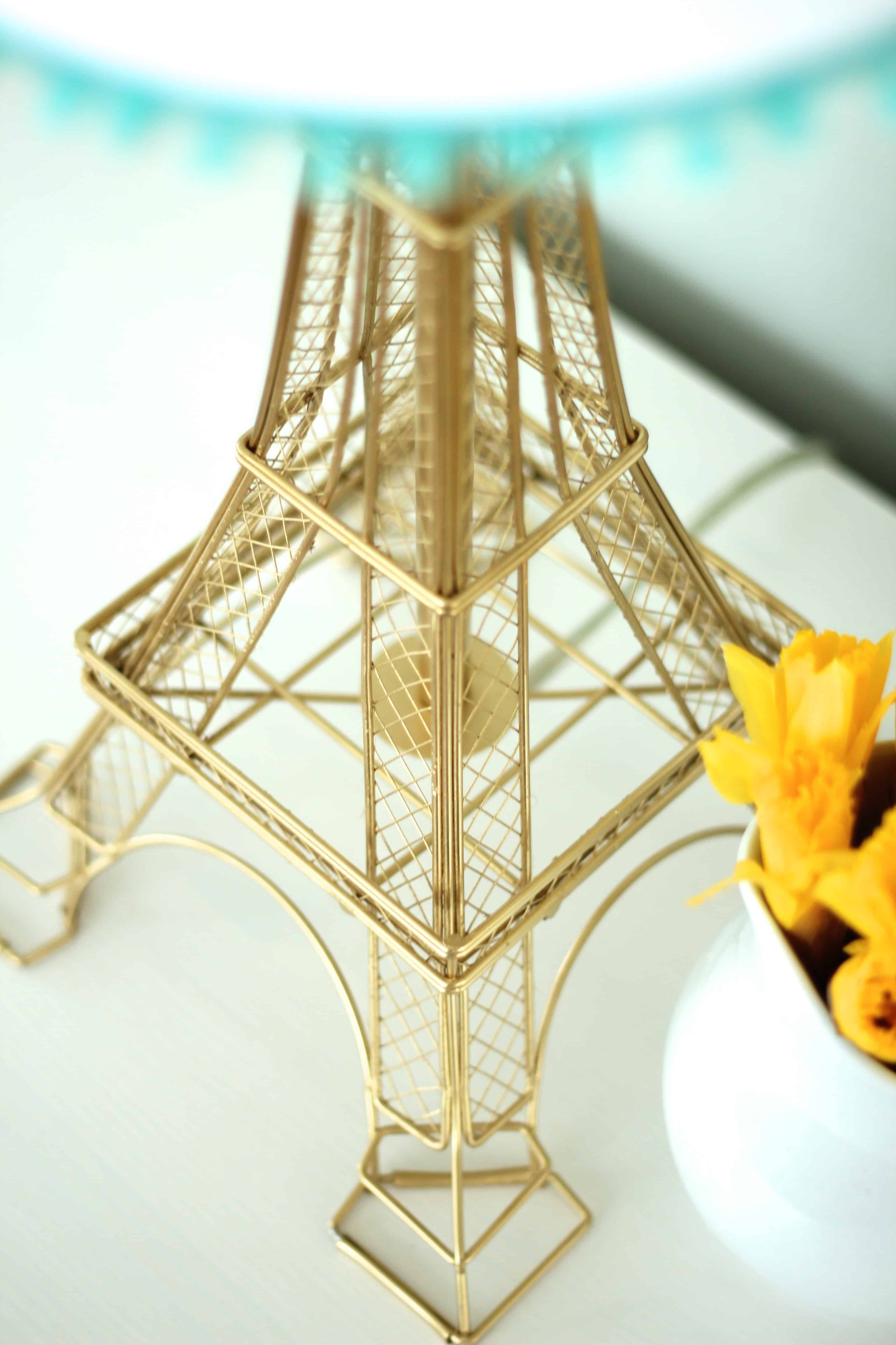 Springtime In Paris A Diy Eiffel Tower Lamp Makeover Simple Stylings