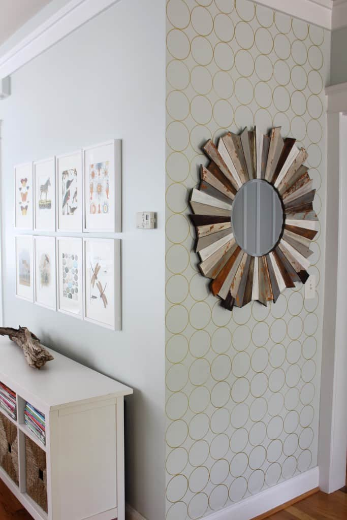 Patterned Sharpie Accent Wall Simple Stylings