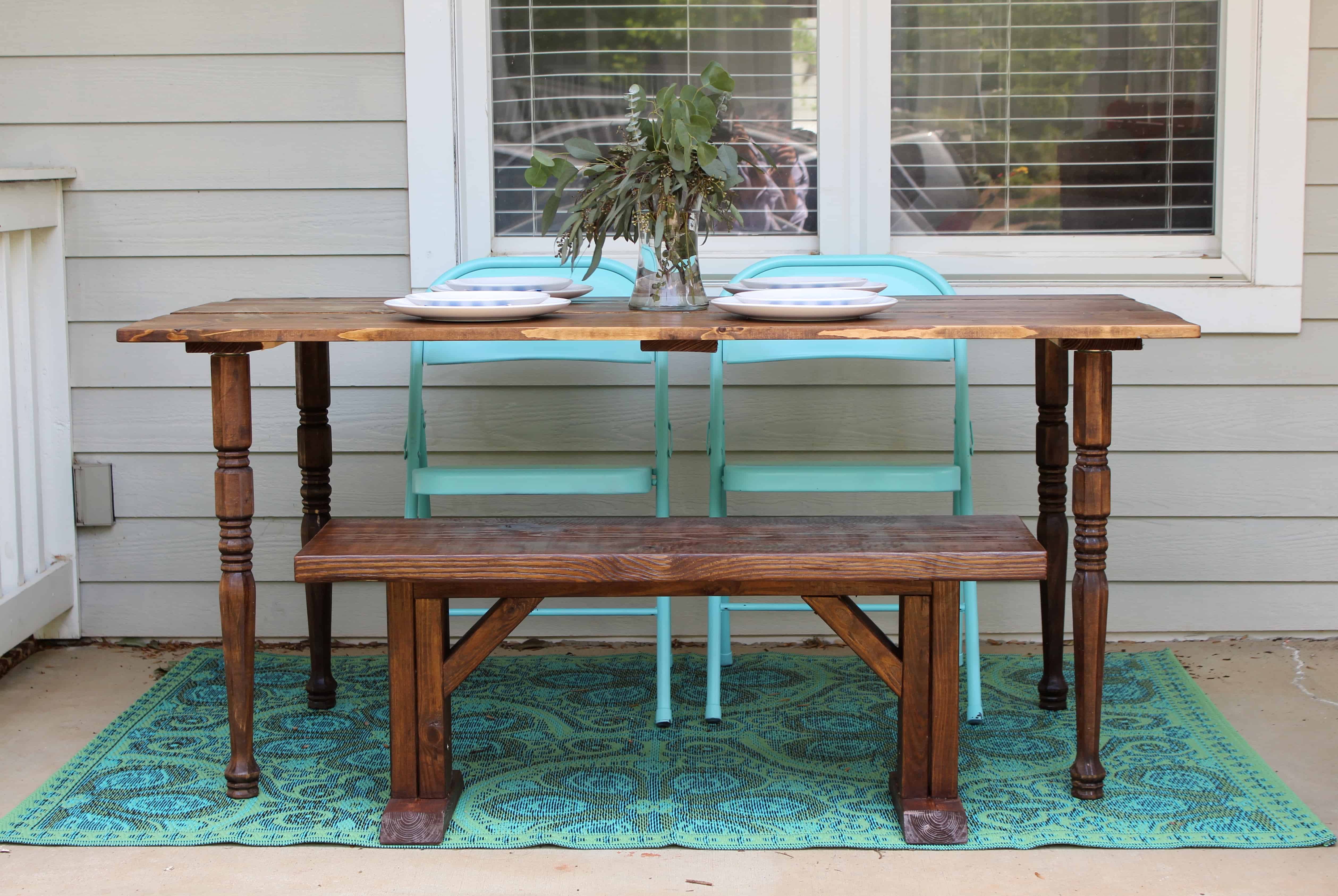 diy portable farmhouse style wood table simple stylings