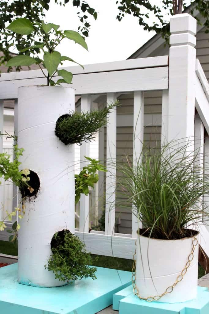 diy vertical herb garden and planter