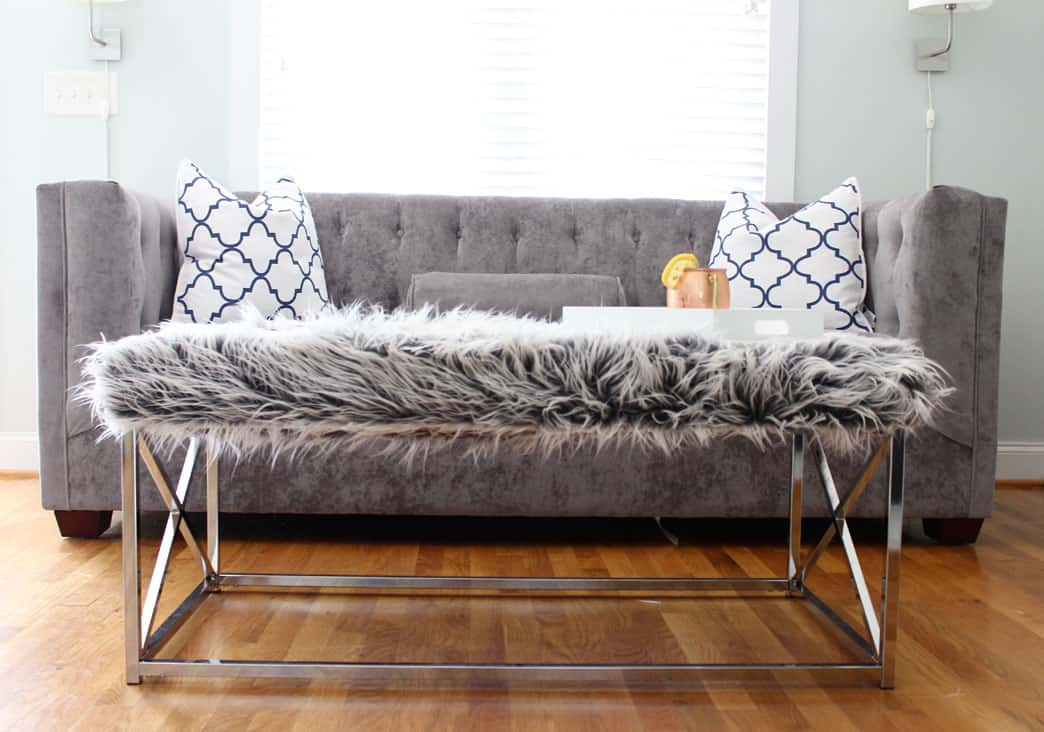 You Might Have Noticed A Chic New Faux Fur Coffee Table In My Post About My  New Sofa A Couple Days Ago. Iu0027m Excited To Show You How I Gave This Basic  ...