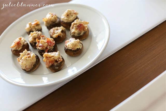 easy summertime appetizers bacon and cream cheese stuffed mushrooms
