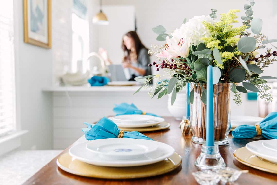 Blogger Stylin' Home Tours: Thanksgiving Tablescape 2015