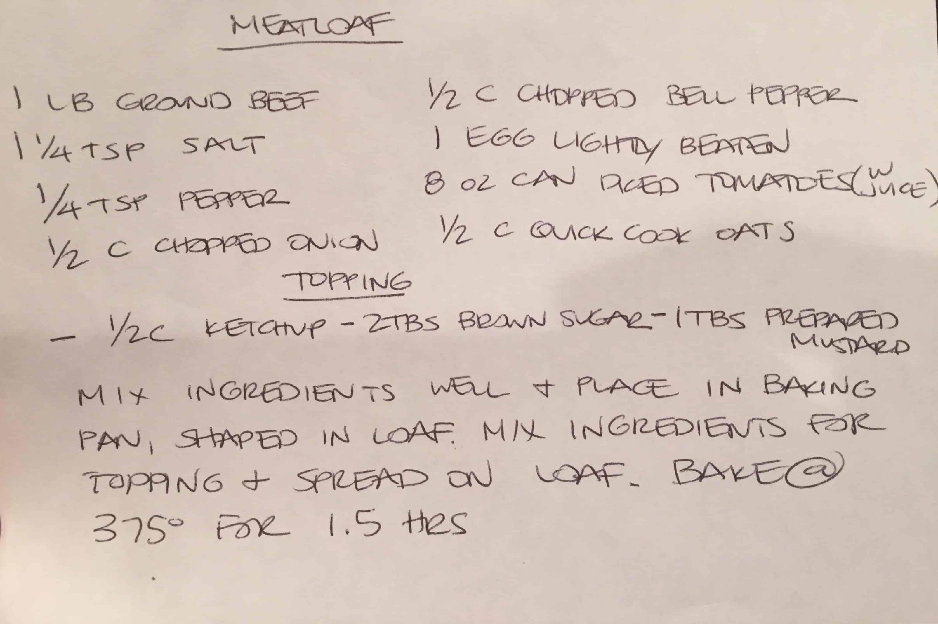 Making a Meal Plan