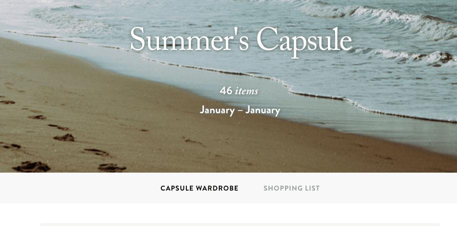 Building a Capsule Wardrobe: My Capsule