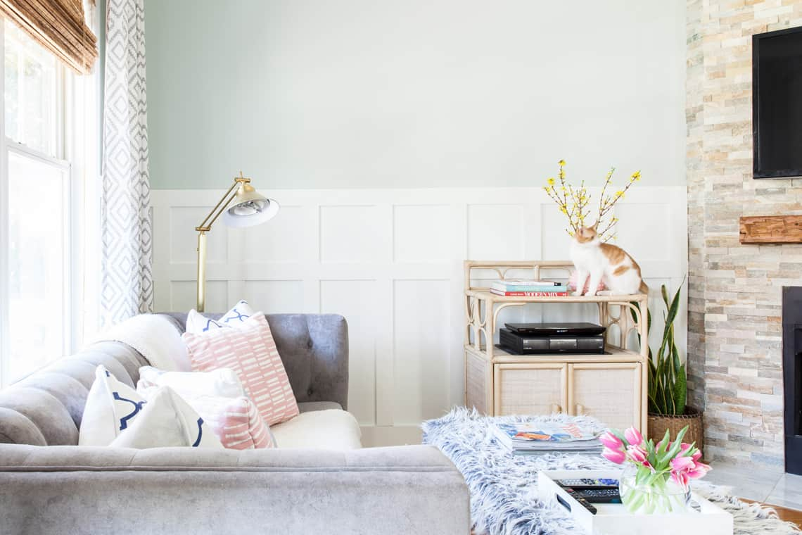 Simple Stylings Home Tour on Glitter Guide Living Room