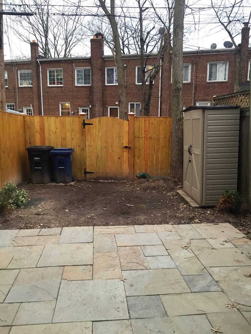 Backyard and patio makeover before