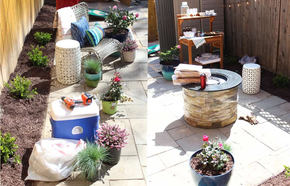 Backyard and patio makeover styling
