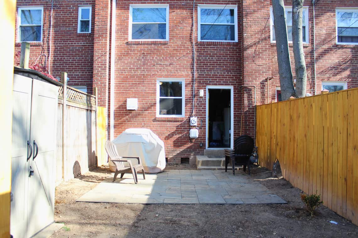 Backyard and patio makeover before picture