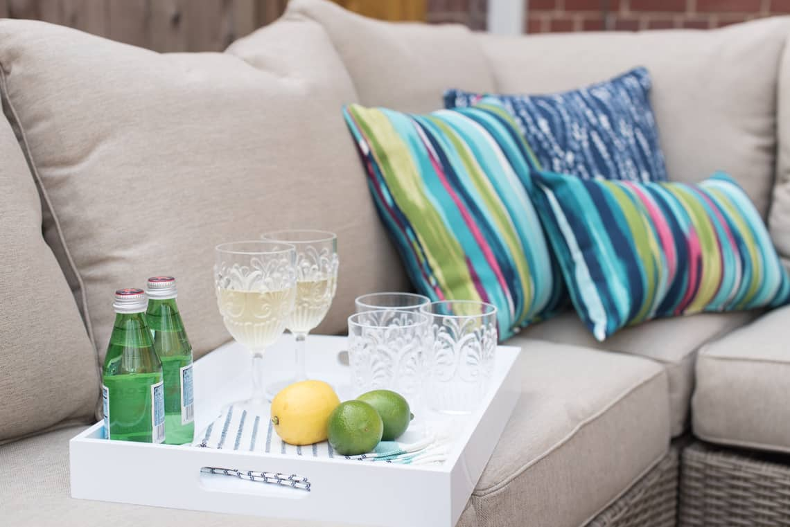 Lowe's Spring Backyard and patio Makeover with outdoor decor