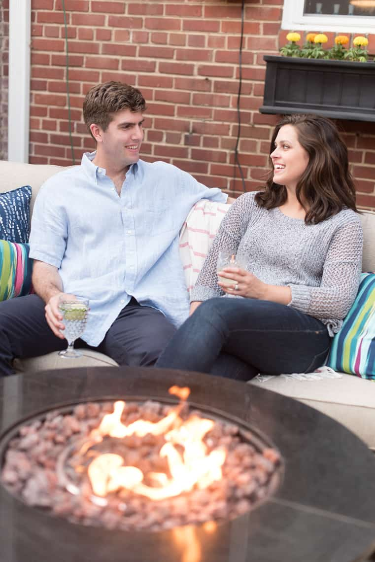 Backyard and patio makeover Gas Fireplace