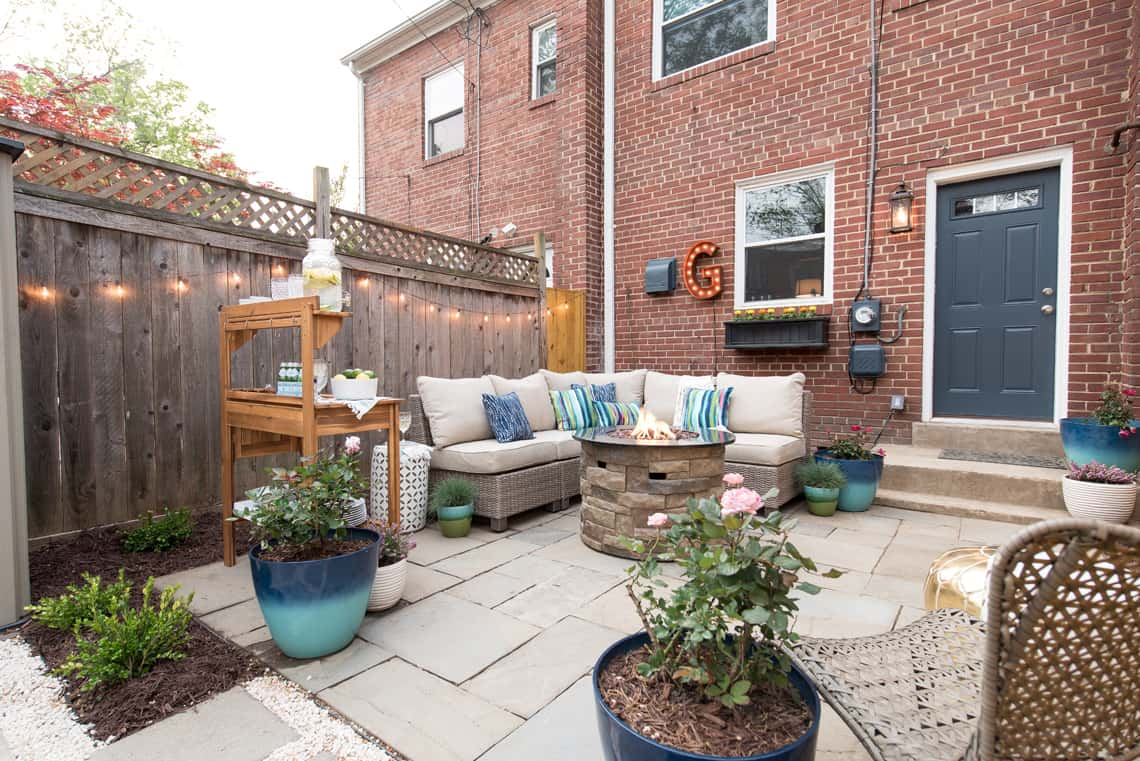 Backyard and patio makeover plants and decor