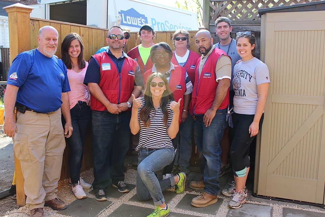 Backyard and patio makeover team