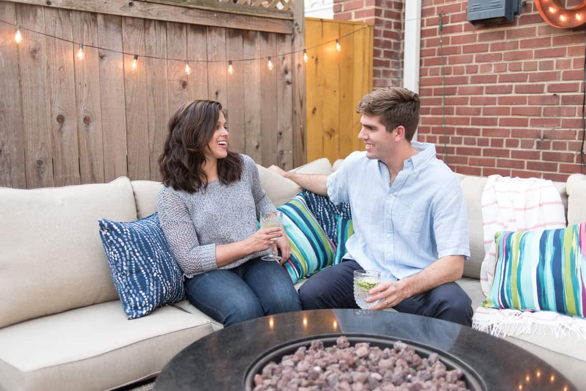 Backyard and patio makeover with Allen & Roth's outdoor sofa