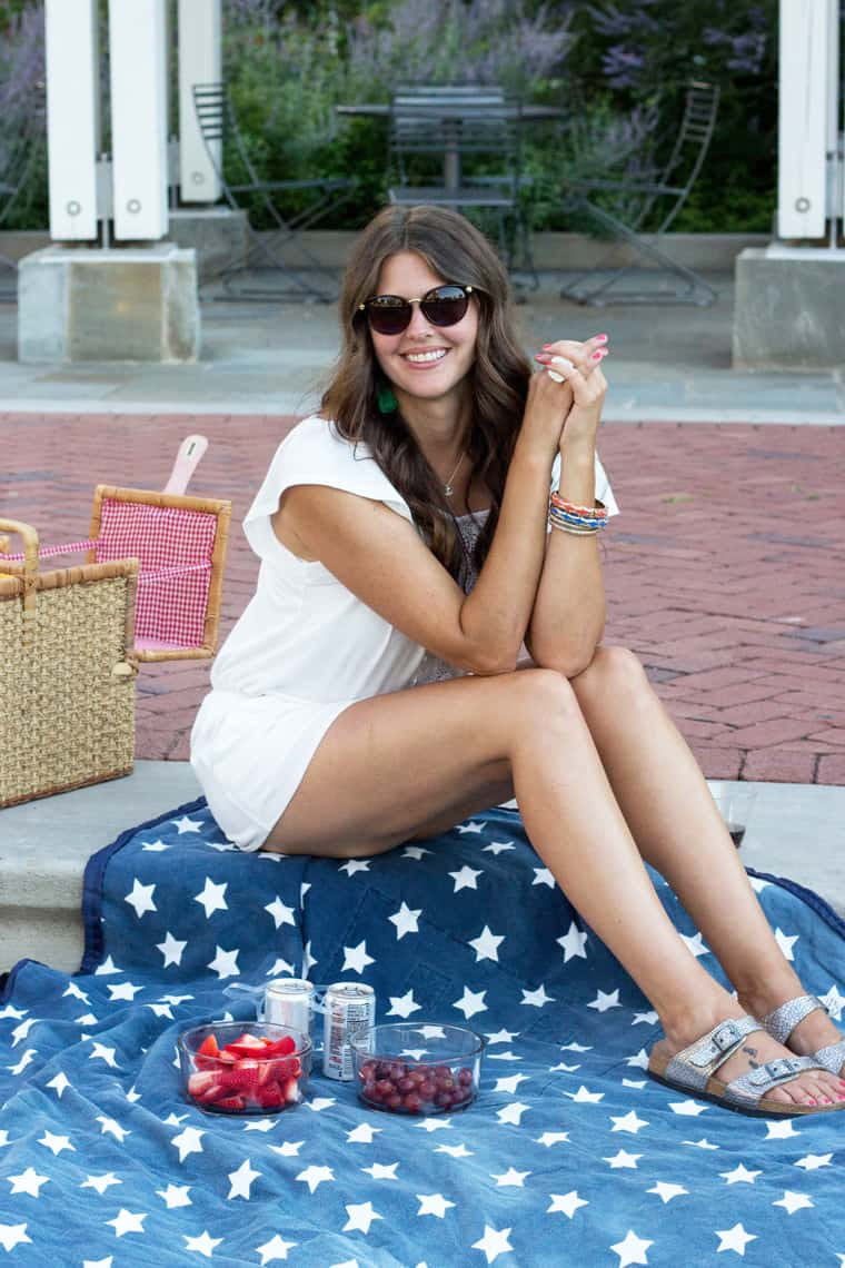 4th of July Style: Romper & Birks
