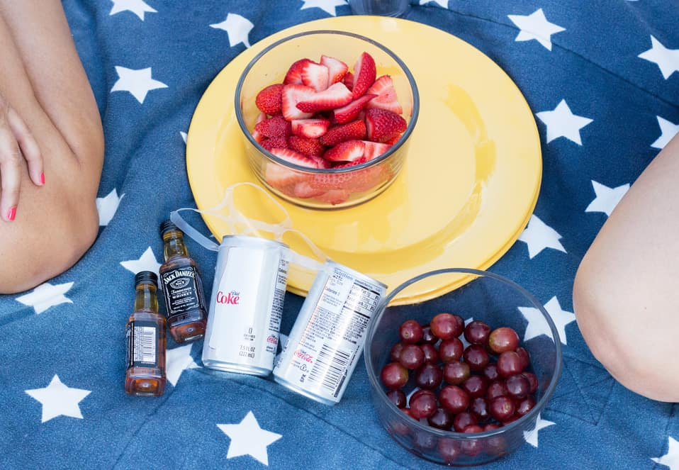 4th of July Style: White Romper & Birks picnic party