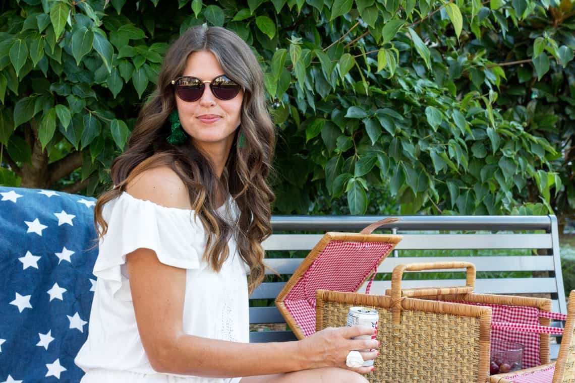 4th of July Style: White Romper & Birkenstocks