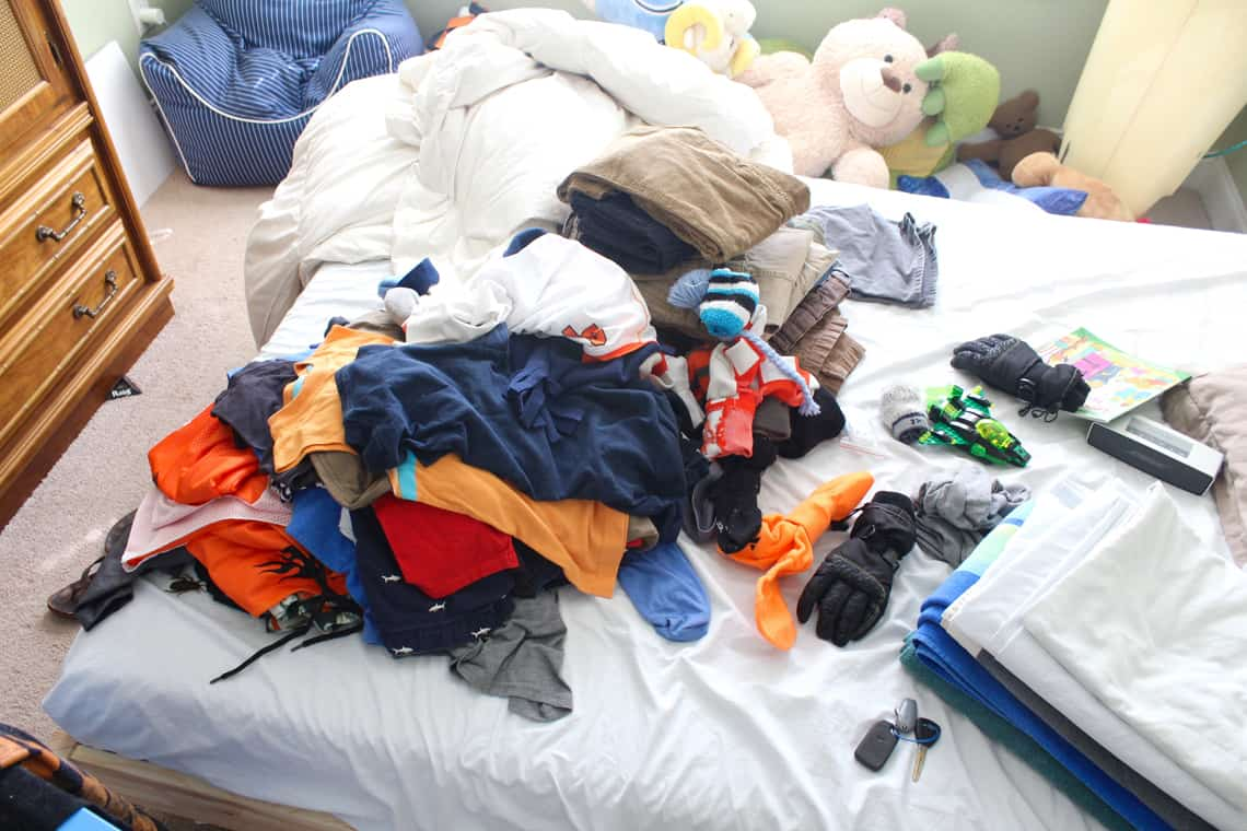 My Son's New Closet Organizing System purge
