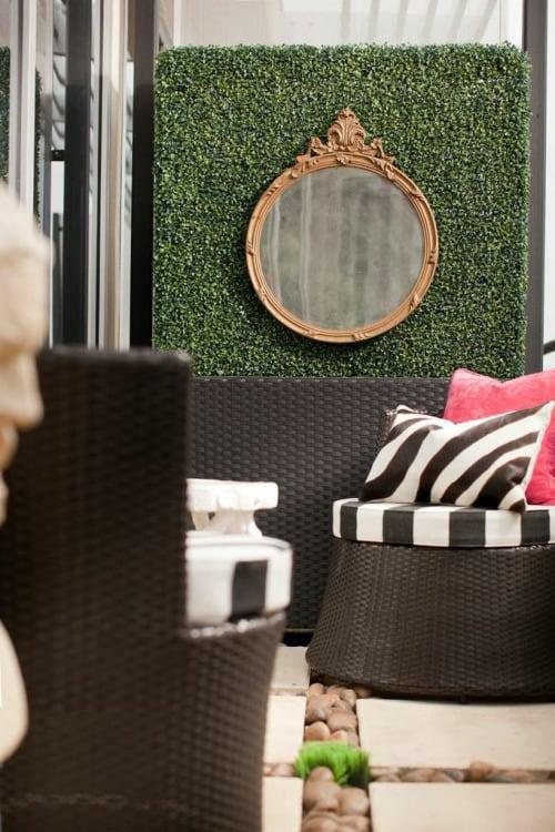 Interior Design Trend: Artificial Boxwood outdoor