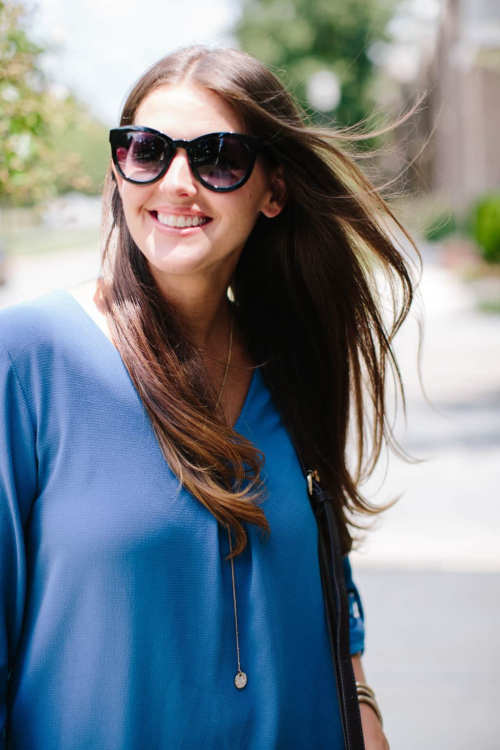 Simple-Shift-Dress-For-All-Occasions-cateye-sunnies