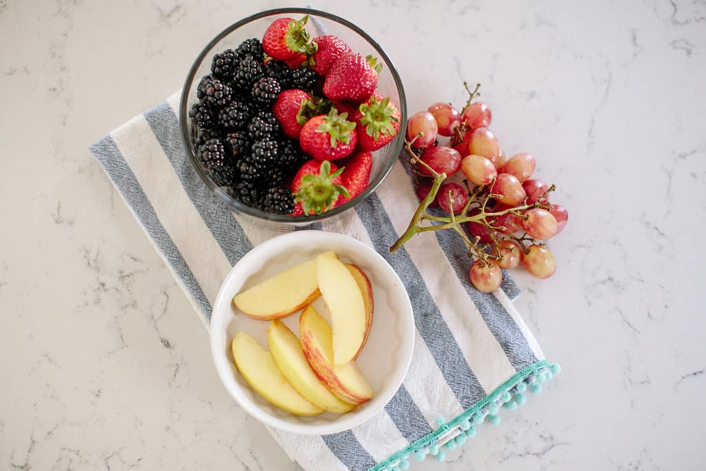 Peanut-Butter-and-Honey-Healthy-Fruit-Dip-mixed-fruit