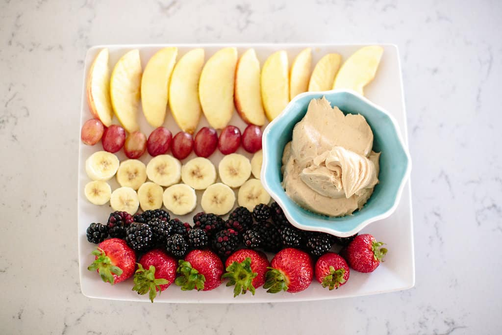 Peanut Butter and Honey Healthy Fruit Dip