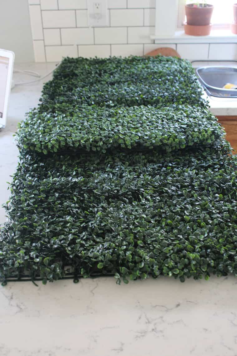 faux boxwood materials