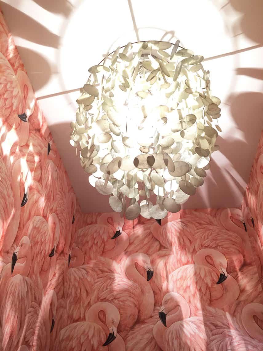 One-Room-Challenge-Week-4-Flamingo-Wallpaper-light