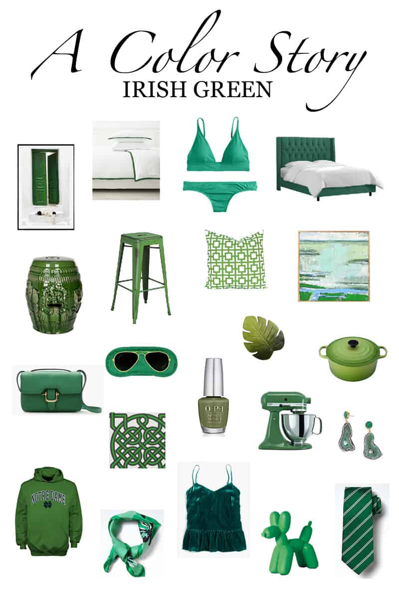 A Color Story: Kelly Green shop board