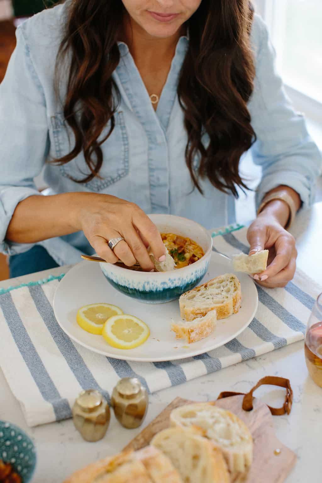 Corn and Crab Chowder Recipe + A Good Read-kitchen