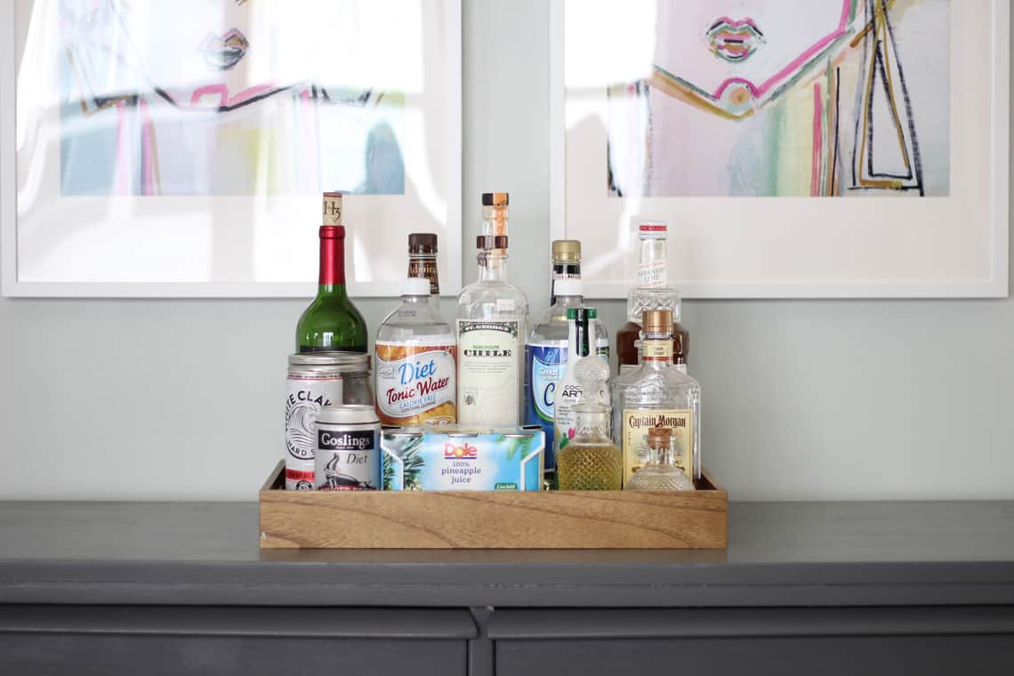 Our (Real Life) Summer Home Tour bar