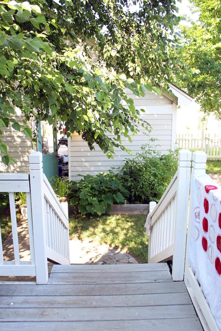 Our (Real Life) Summer Home Tour garden