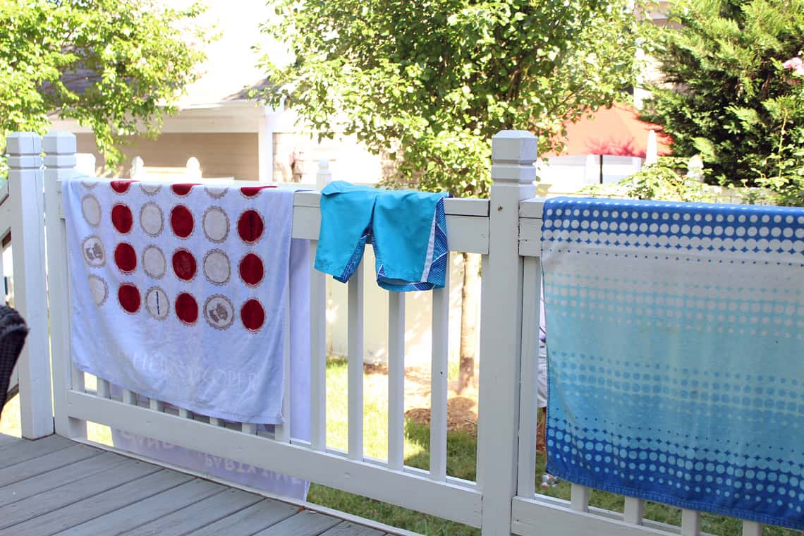 Our (Real Life) Summer Home Tour towels