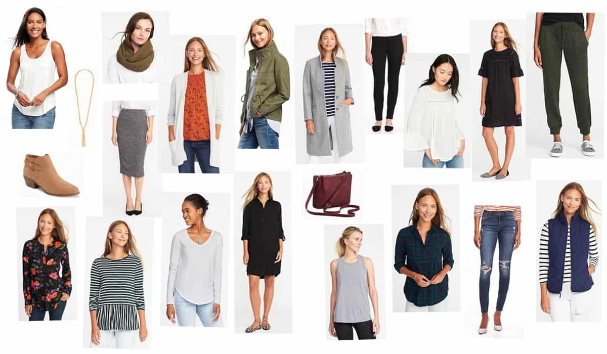 How To Build A Fall Capsule Wardrobe From Old Navy round up
