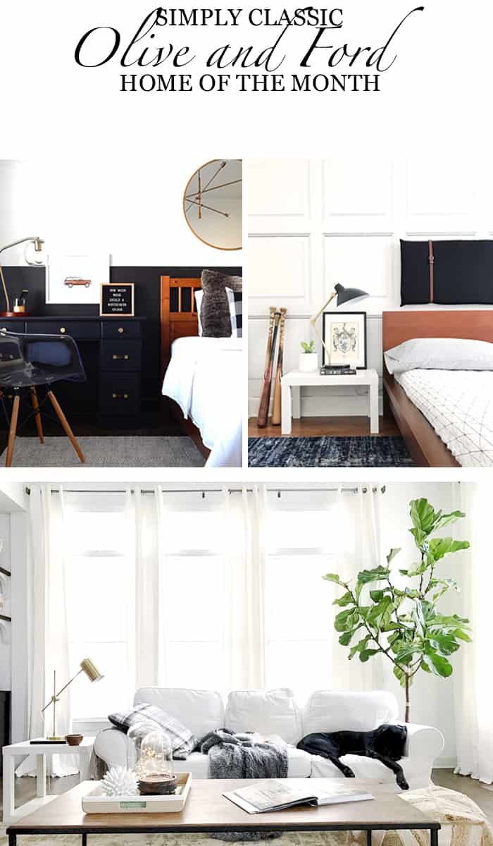 Home of the Month: Simply Classic Home of Olive and Ford Pin It