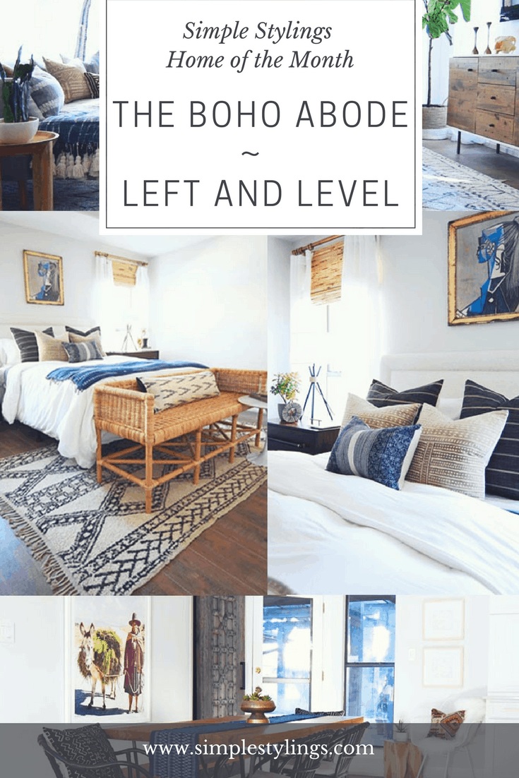 Home of the Month: Kelsey of Left and Level's Boho Abode pin