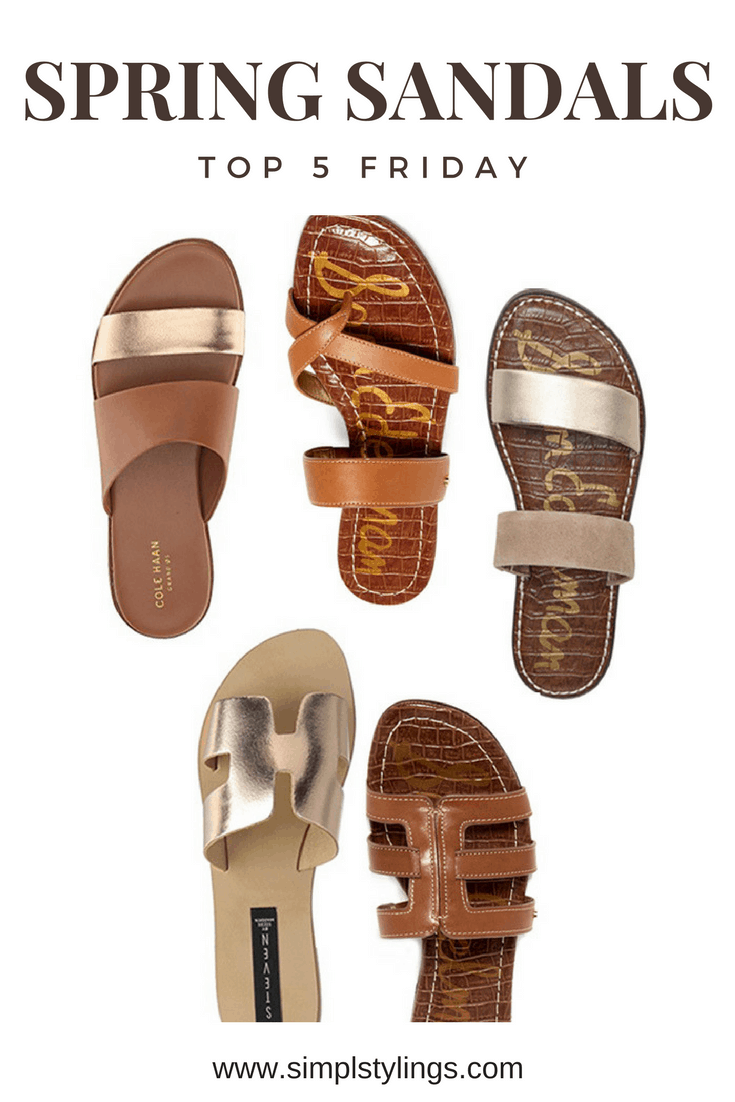 Top 5 Friday: My Five Favorite Flat Sandals For Spring Lineup