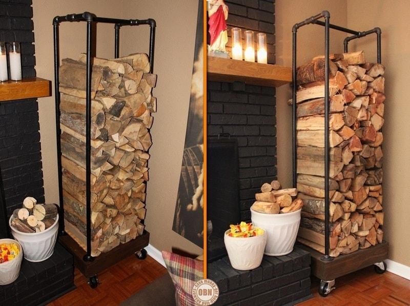DIY Outdoor Firewood Storage Rack Ideas vertical