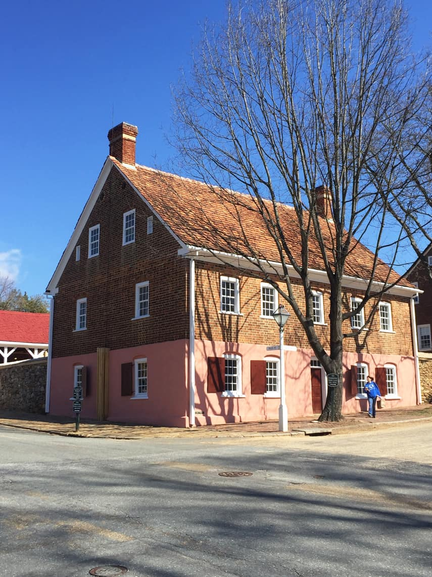 Roadtrip Reality: A Day Trip To Old Salem, NC pink house