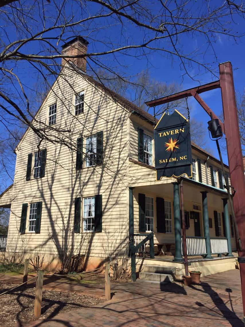 Roadtrip Reality: A Day Trip To Old Salem, NC tavern restaurant