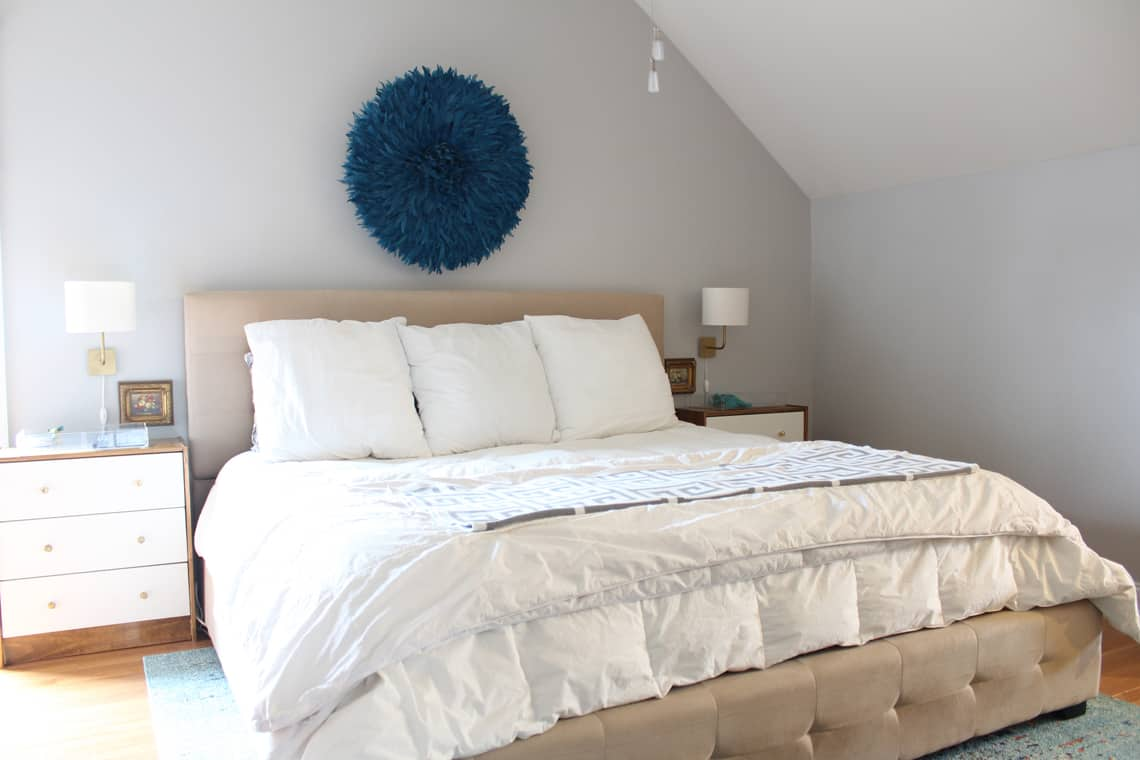 Spring 2018: A Wannabe Minimalist Home Tour bed