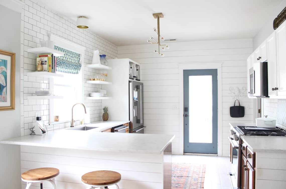 Spring 2018: A Wannabe Minimalist Home Tour white kitchen